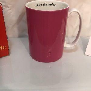 Kate Spade VTG skirt the rules mug